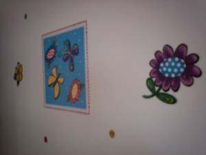 Picture of decals in daughter's room