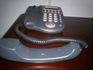 Picture of a corded phone