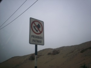 Sign prohibiting skateboarding down SkateboardHill