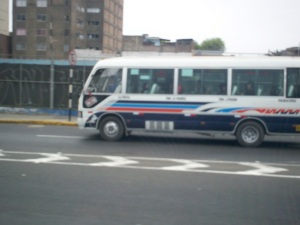 "Picture of a ""combi"" bus in Lima, Peru"