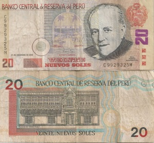 Picture of the Peruvian 20 soles note