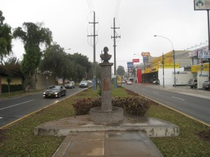 Traffic island on Raul Ferrero