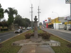 Traffic island on Raul Ferrero
