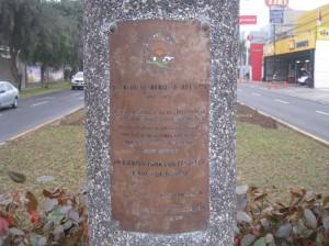 Plaque for Raúl Ferrero Rebagliati
