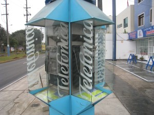 A phone booth