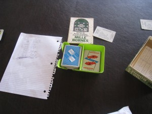 Picture of Mille Bornes setup