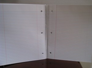 Picture of lined notebook paper