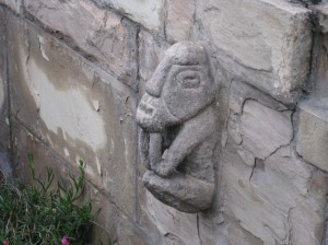 Picture of statue on garden wall