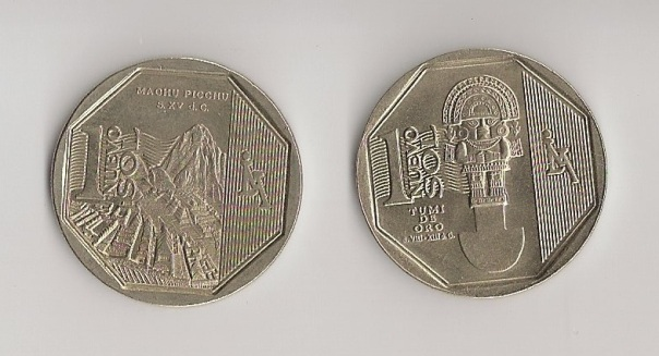 Reverse of Peruvian nueva sole coin