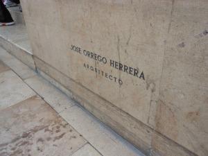 Cornerstone of shopping center in La Molina, Peru