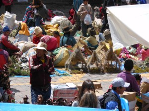 Nativity marketplace in Cusco, Peru