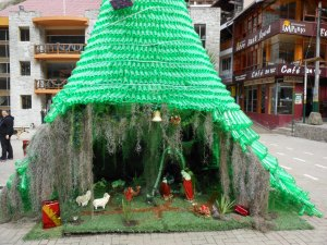 Christmas tree in Aguas Calientes