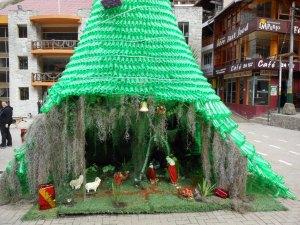 Christmas tree in Aguas Calientes