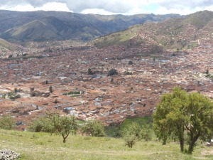 Cusco as seen from Suqsaywaman