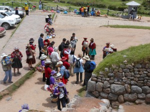 Vendors outside Suqsaywaman, Peru