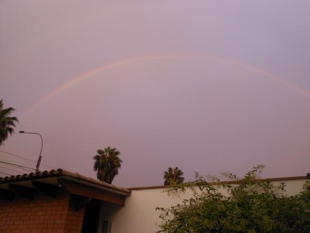 Rainbow over La Molina, Peru