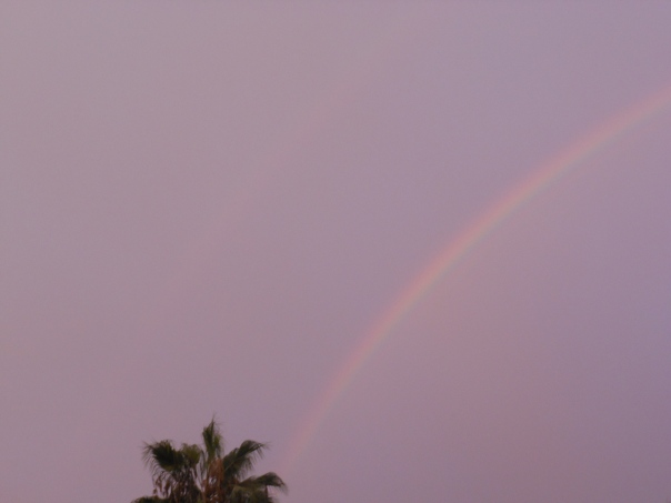 Picture of rainbow over Lima, Peru