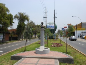 New bust of Raul Ferrero in Peru