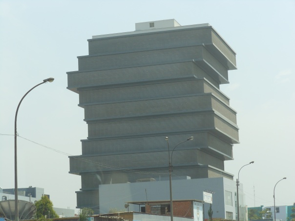Building in Lima, Peru, outside the Museo de la Nacion