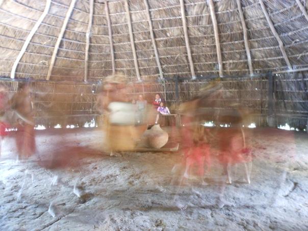 Yagua dancers in Peruvian Amazon jungle