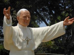 Status of Pope John Paul II in suburb of Lima, Peru