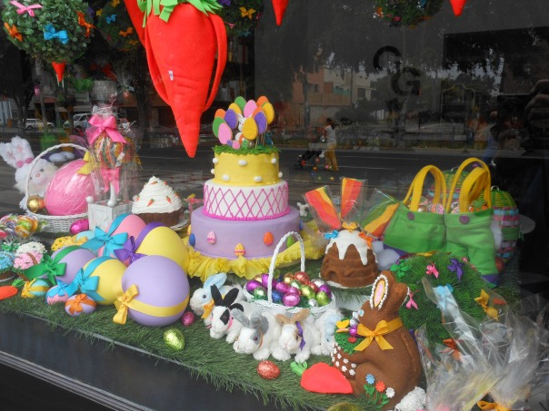 Easter display in La Molina, Peru