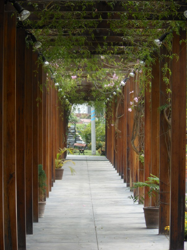 Covered walkway in La Molina, Peru