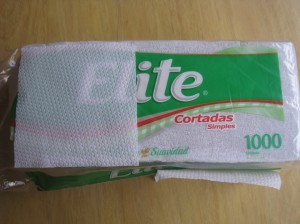 Single-ply napkin bought in Peru