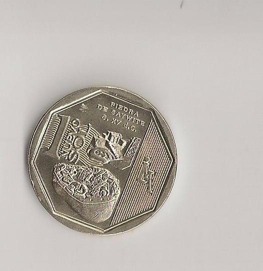 Reverse of 2012 Peru 1-sol coin