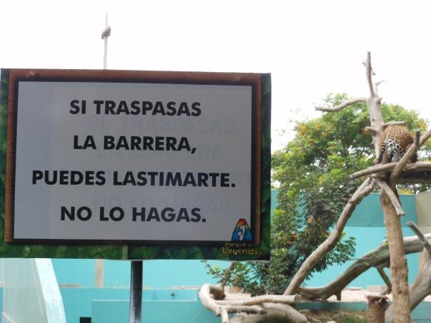 Warning sign outside jaguar site