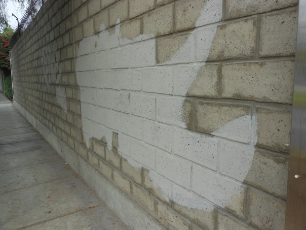 Graffiti clean-up seen in Lima, Peru