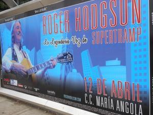 Poster for Roger Hodgson concert
