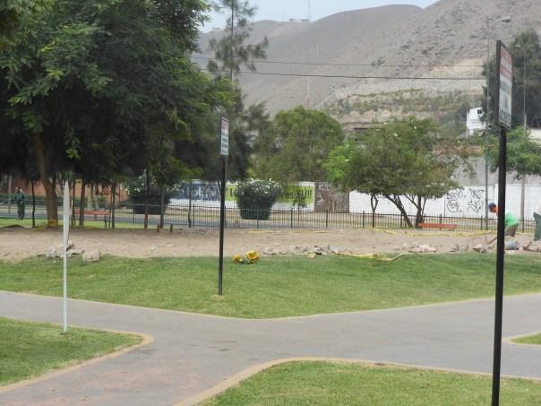Empty sandlot in playground