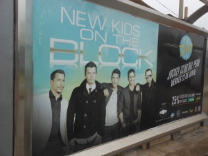 Poster for New Kids on the Block concert
