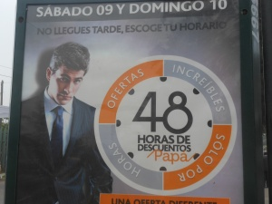Ad for department store in Peru