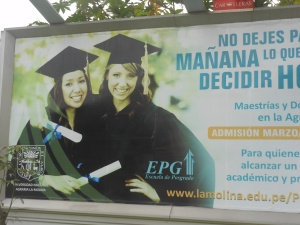 Advertisement for college in Peru
