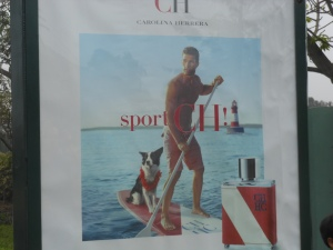 An advertisement for cologne in Peru