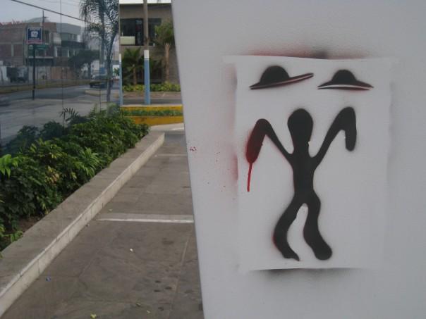 Graffiti seen in Lima, Peru