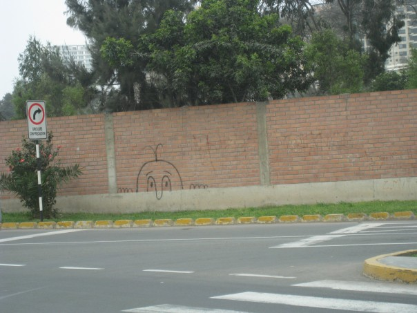 Graffiti seen in Lima, Peru