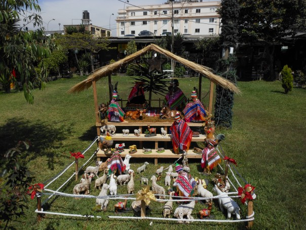 Nativity Scene in Lima, Peru