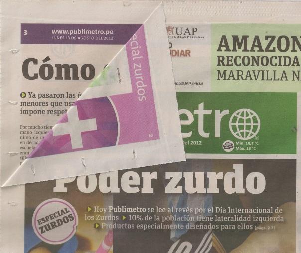 August 13 edition of Publimetro