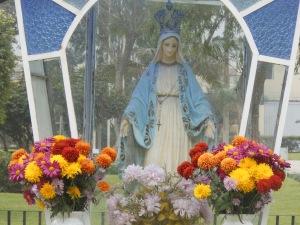 Religious statue in Lima, Peru