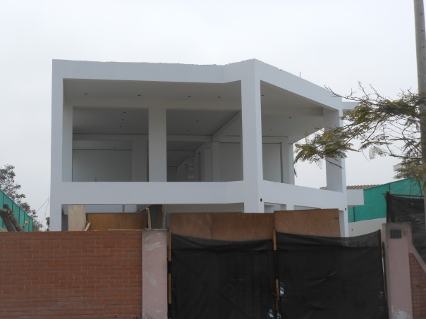 House under construction in Lima, Peru