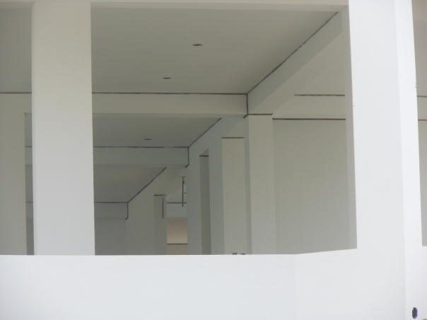 Interior of house under construction in Lima, Peru