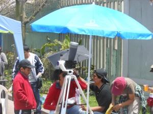 Sun gazers in Peru