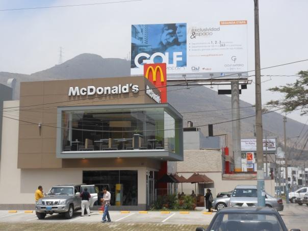 New McDonald's in La Molina, Peru