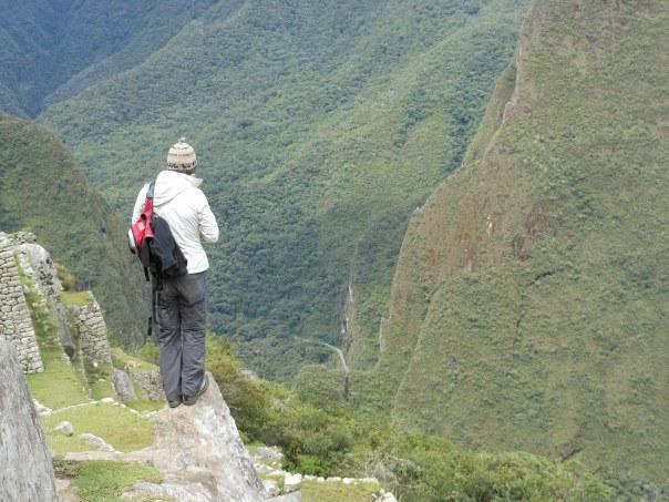 Tourist at Machu Picchu