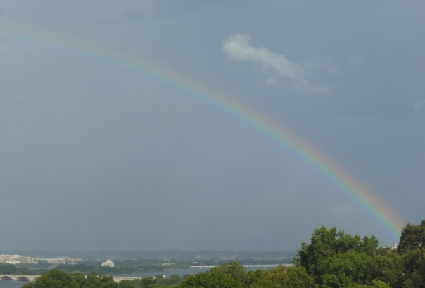 Rainbow over the Potomac River
