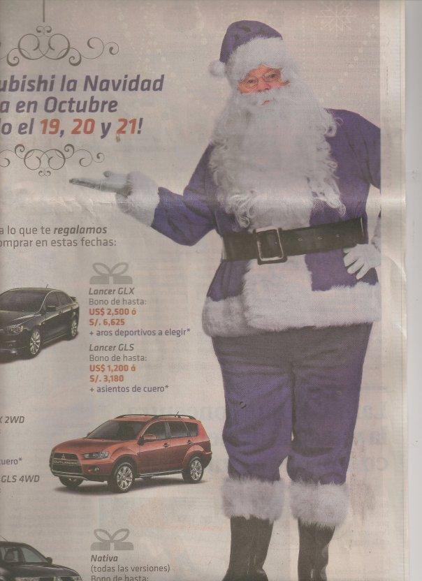 Car advertisement in Peru