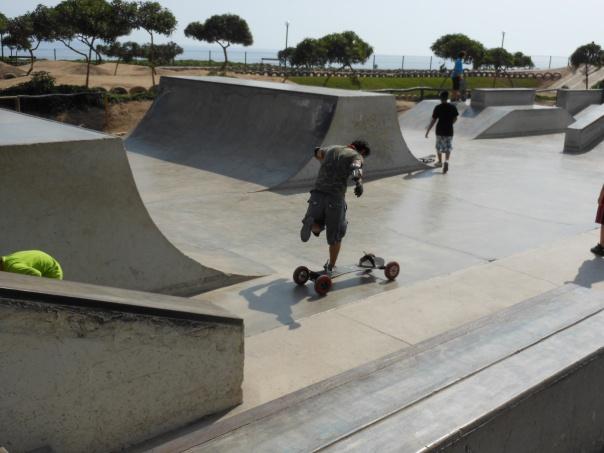 Skateboarder in Miraflores, Peru